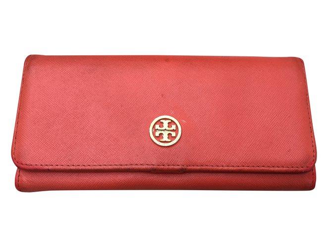 5581b699ef4 Tory Burch Wallets Wallets Leather Orange ref.34103 - Joli Closet