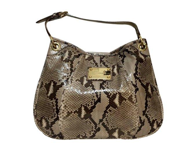 5a5679b75631 Louis Vuitton Limited Edition Python Galliera Smeralda GM Handbags Exotic  leather Python print ref.34142