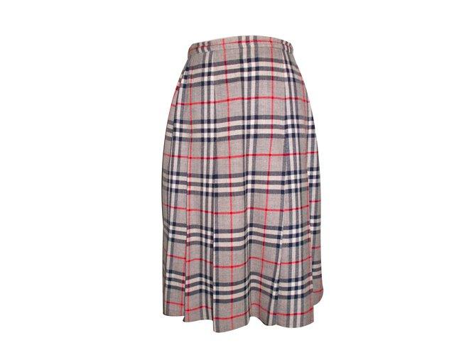 Burberry Skirt Skirts Wool Grey ref.34181