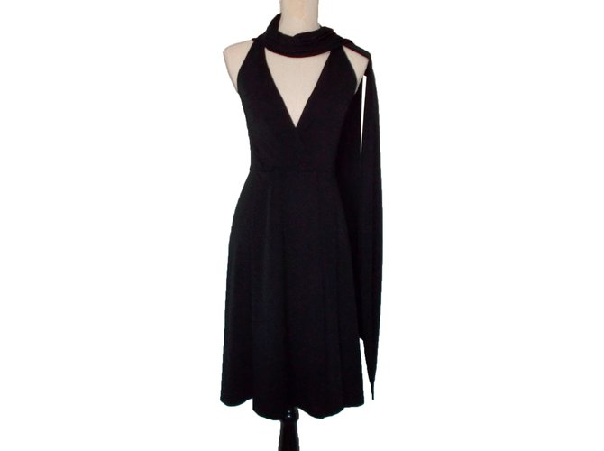 Céline Dress Dresses Polyester,Viscose Black ref.34215