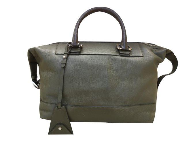 Diane Von Furstenberg Handbag Handbags Leather Green Ref 34243