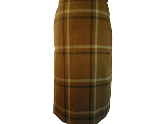 Burberry Skirt Skirts Wool Brown ref.34283