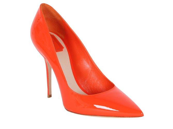 8521c581de8 Dior neon orange pumps-NEW