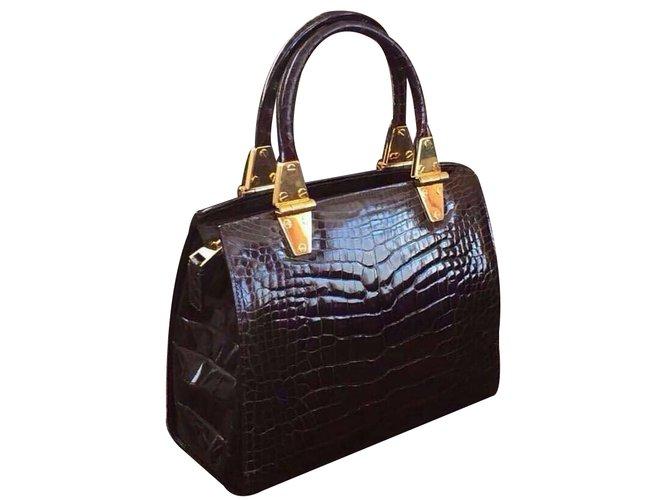 Sacs à main Tom Ford Sacs à main Cuirs exotiques Bordeaux ref.34377 ... 5590e1737852