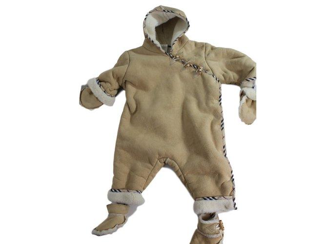 Burberry Sleepsuit One piece Jacket Polyester,Acrylic Beige ref.34440