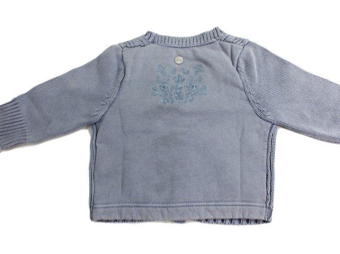 Baby Dior Cardigan Blue Cotton  ref.34444