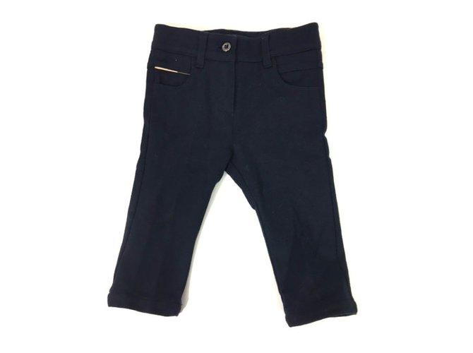 Pantalons fille Burberry Pantalon Coton Bleu ref.34445