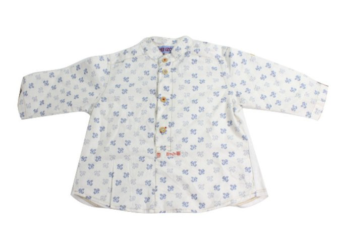Tops fille Kenzo Top Coton Blanc,Bleu ref.34446
