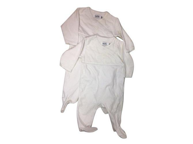 Baby Dior set of 2 sleepsuit White Cotton  ref.34453