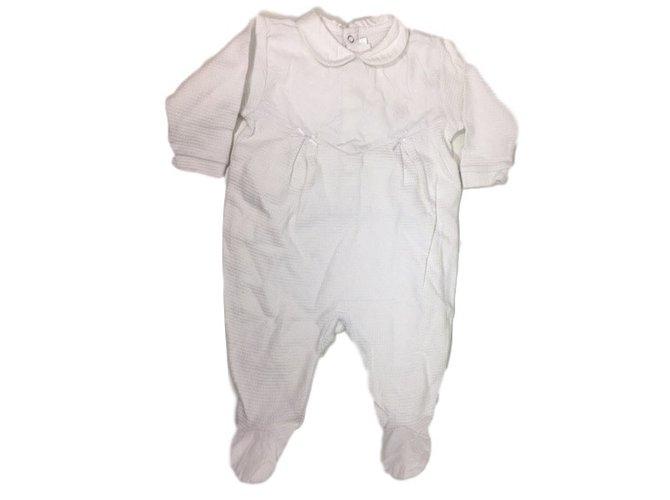 Baby Dior Sleepsuit 6 months White Cotton  ref.34455