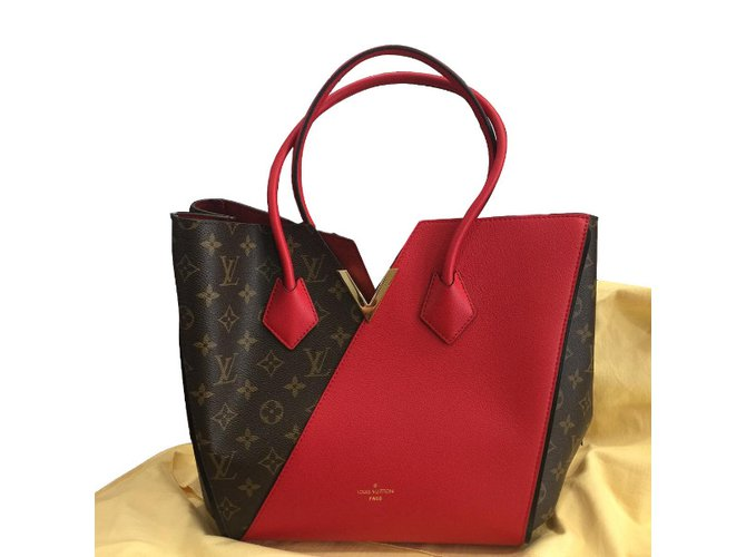 d4a2f171020b Louis Vuitton Kimono Monogram Handbags Leather Red ref.34487 - Joli ...