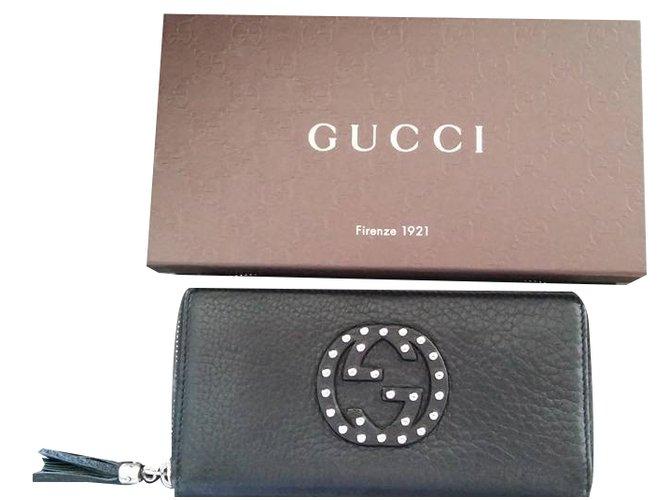 000571eefbca Gucci SOHO Wallets Leather Black ref.34595 - Joli Closet