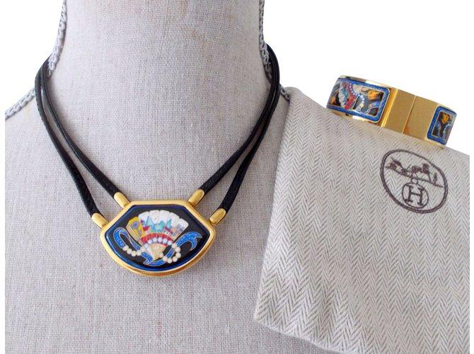 Parures Hermès Parure Autre Bleu ref.34845