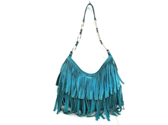 5ee089c355 Yves Saint Laurent YSL La Boheme Bag Handbags Suede,Leather Blue ref.34904
