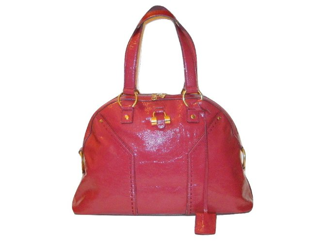 399df1a091e Yves Saint Laurent Muse Handbags Patent leather Pink,Red ref.35010 ...