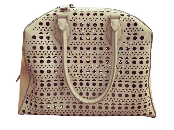 Alaïa Perforated Leather Handbag