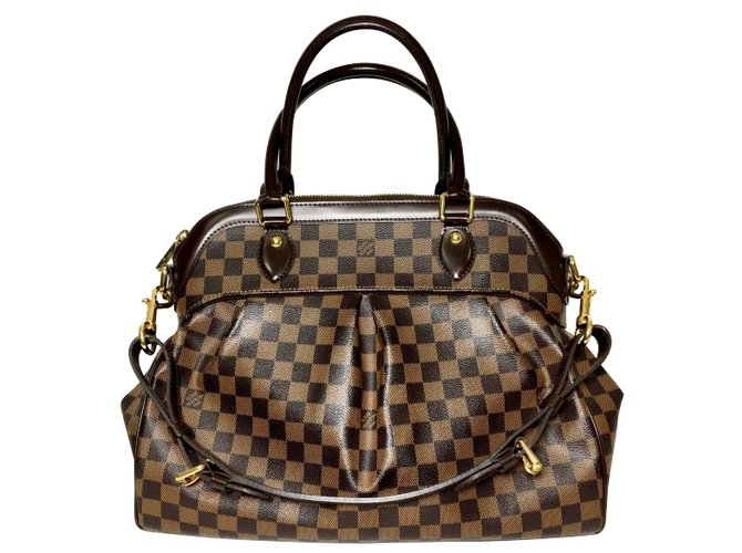 Sacs à main Louis Vuitton Damier Ebene Trevi GM Cuir Marron ref.35131 e4b9070c73a