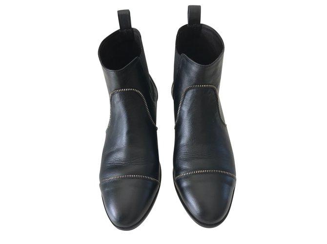 Tila March Hackney Black Leather  ref.35158