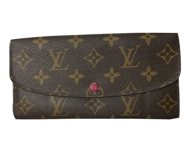 Portefeuilles Louis Vuitton portefeuille Monogramme Louis Vuitton Emilie  Wallet Fuchsia Toile Marron ref.35274 37ae63c7ce5