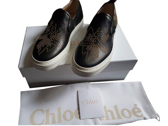 Chloé Sneakers Sneakers Leather Black ref.35542