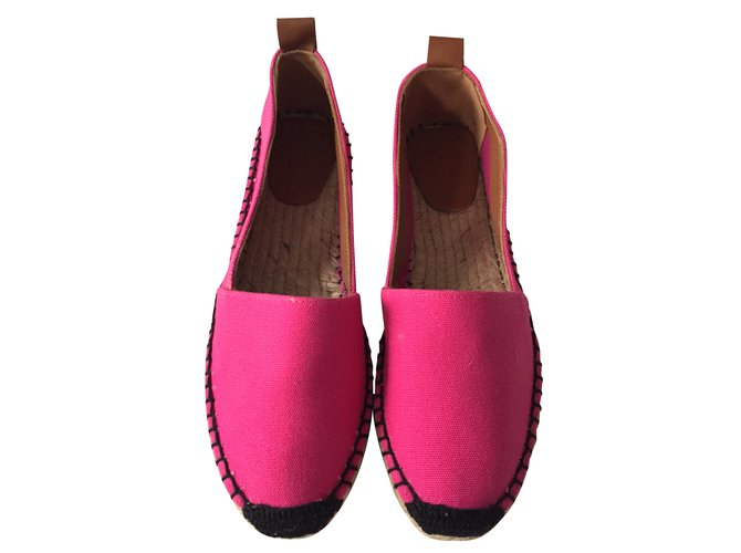 Flamingos Espadrilles Pink Cotton  ref.35641