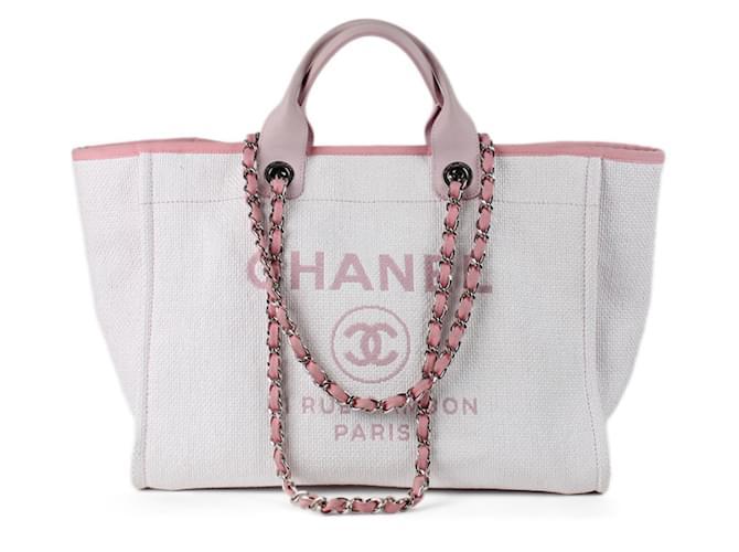 3c7d5983048 Cabas Chanel Deauville Synthétique Rose ref.35756 - Joli Closet