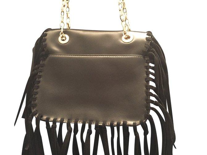 Anne Fontaine Handbag Handbags Leather Black Ref 35844