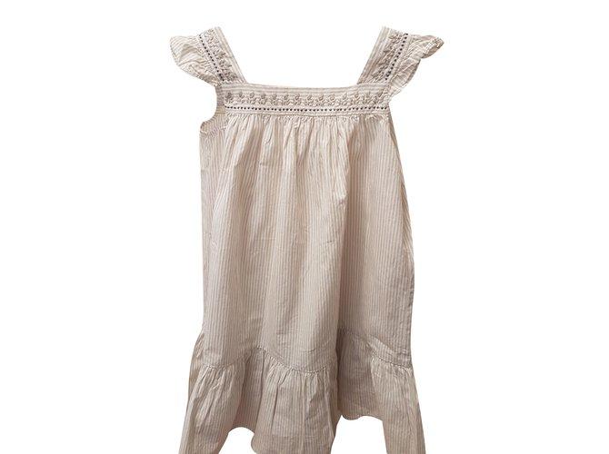 Bonpoint Dress Dresses Cotton Beige ref.35853