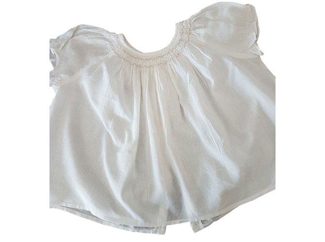 Tops fille Bonpoint Top fille Coton Blanc ref.35898