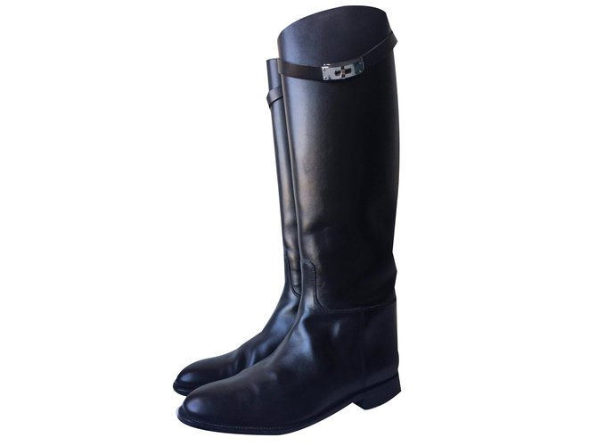 Hermès Jumping Boots Leather Black ref.35972