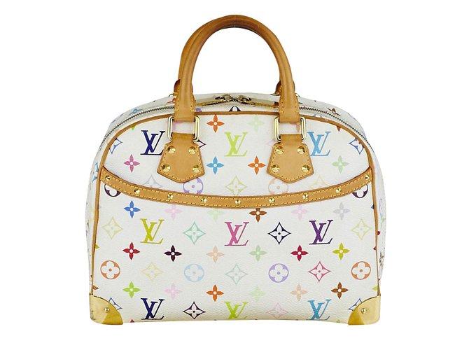 Louis Vuitton Monogram Multicolore Trouville Handbags Leather White  ref.35978 3ef7b3d5339