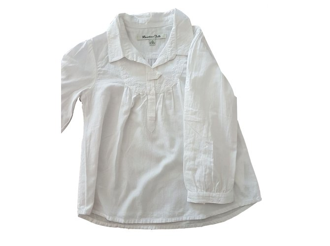 Tops fille Massimo Dutti Blouse Coton Blanc ref.35984