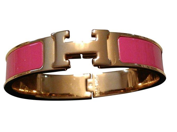 0004fe3545a ... promo code for bracelets hermès clic clac h plaqué or rose ref.36078  9480c 5dc93