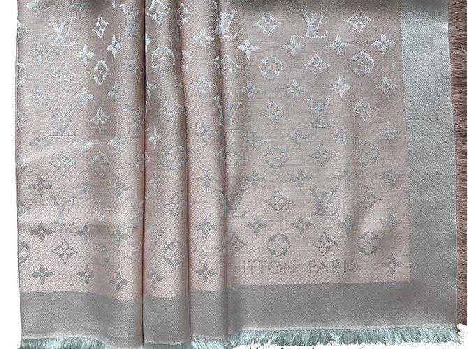 Louis Vuitton Scarf Scarves Silk Pink Ref36242