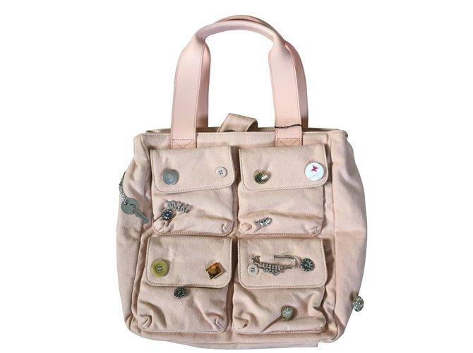 619eeb8b3d Matthew Williamson Handbags Handbags Leather,Cotton Pink ref.36464 ...