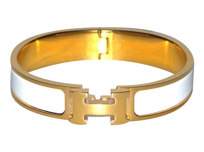 6777f54306d Hermès Bracelet Bracelets Gold-plated White ref.36491 - Joli Closet