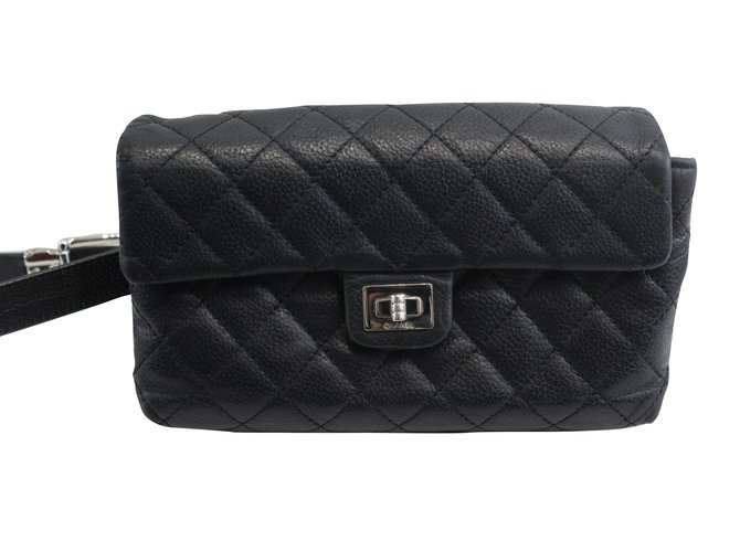 c0c45c0d94b9 Chanel, Handbag. $730. Add to my wishlist. Chanel Uniform Hanger Bag in  black caviar leather.