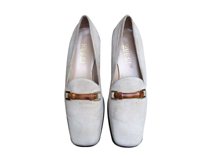 7e8e1028c04 Gucci Loafers Flats Leather Beige ref.36661 - Joli Closet