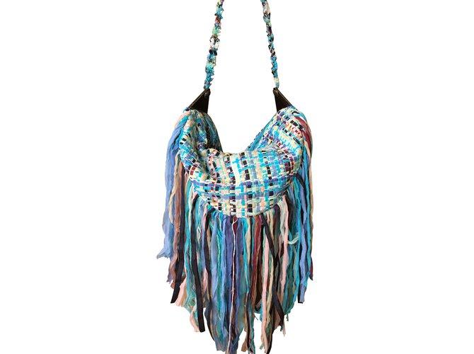Sacs à main Chanel Hobo Édition limitée Tweed Multicolore ref.36893