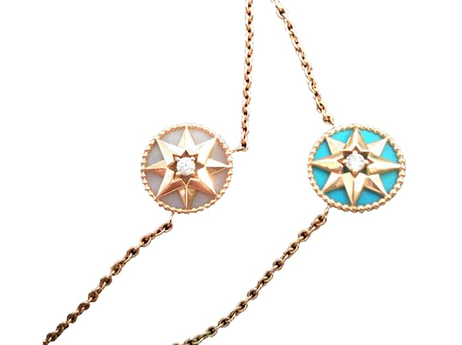 Dior Rose Des Vents Necklaces Yellow Gold Blue Ref 36924 Joli Closet