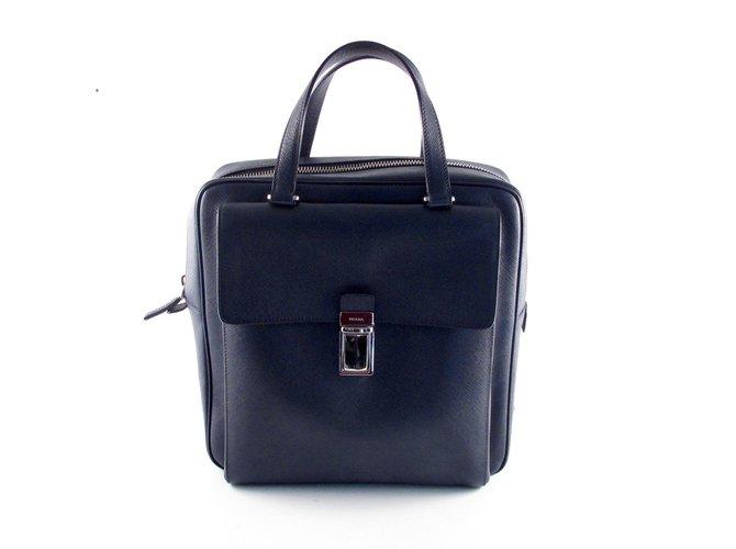 9e398ece0f32 ... wholesale prada saffiano tote bag handbags leather blue ref.37057 b0edb  85fc5 ...