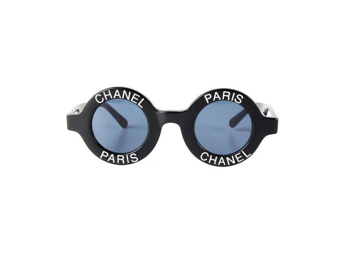 Lunettes Chanel Chanel Lunettes de soleil rondes -Vintage Logo Autre Autre  ref.37099 bae0c6d3d048