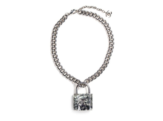 heart stainless in necklace eternity necklaces collars lock and steel chain with padlock