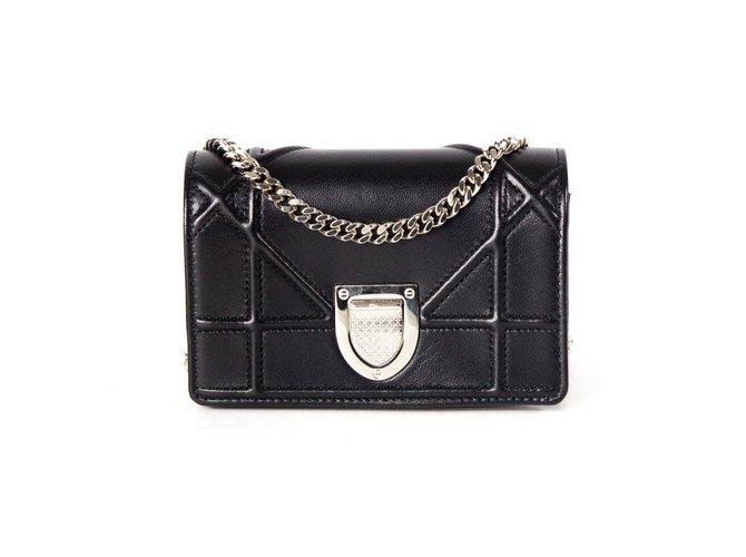 05c04cacf45e Christian Dior Diorama Mini Crossbody Bag Handbags Leather Black ref.37153