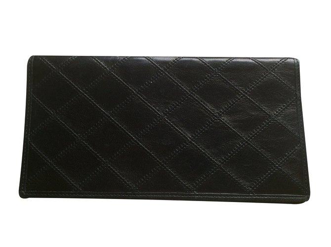 22446c851c5 Portefeuilles Chanel Portefeuille Cuir Noir ref.37320 - Joli Closet