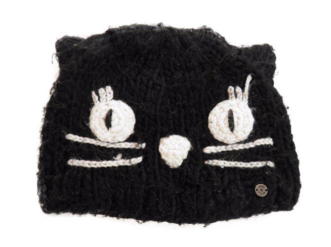 Chapeaux, bonnets, gants Ikks cat hat Autre Noir ref.37392