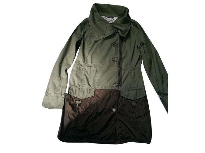 manteaux tommy hilfiger manteau coton nylon vert joli closet. Black Bedroom Furniture Sets. Home Design Ideas