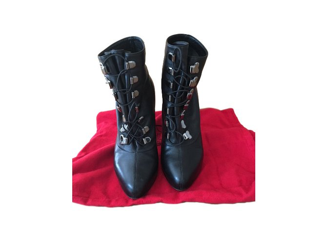 93b5aee8ffdf Christian Louboutin TROOPISTA 120 NAPPA Boots Leather Black ref.37442