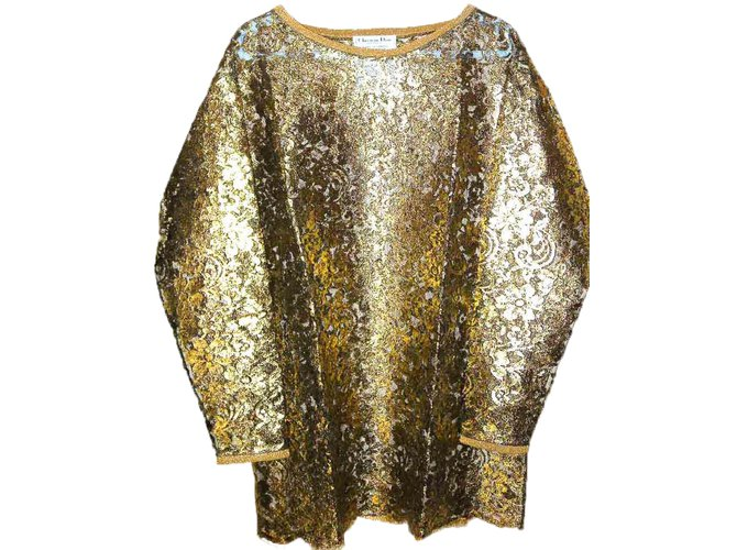 2cc91ac6d06 Christian Dior tunic tunics Polyester,Nylon,Rayon Golden ref.37480 ...