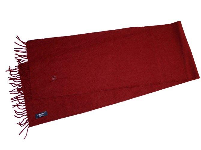 Burberry Scarf Scarves Wool Dark red ref.37533